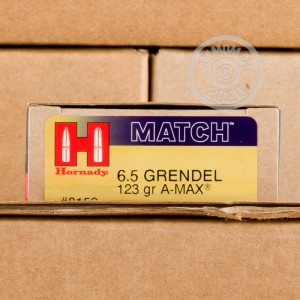 An image of 6.5 Grendel ammo made by Hornady at AmmoMan.com.