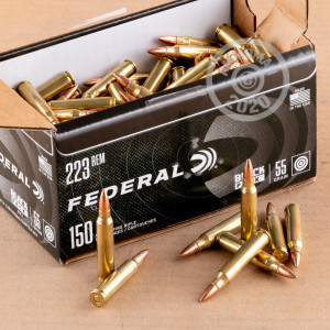Photograph showing detail of 223 REM FEDERAL BLACK PACK 55 GRAIN FMJ (600 ROUNDS)
