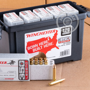 Photo detailing the 350 LEGEND WINCHESTER USA 145 GRAIN FMJ (120 ROUNDS IN FIELD BOX) for sale at AmmoMan.com.