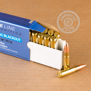 Image of 300 AAC Blackout ammo by Prvi Partizan that's ideal for training at the range.