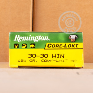 Photo of 30-30 Winchester CORE-LOKT soft point ammo by Remington for sale.