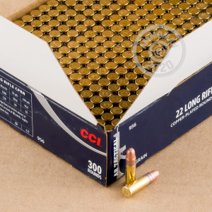 A photograph of bulk .22 Long Rifle ammo made by CCI at AmmoMan.com.