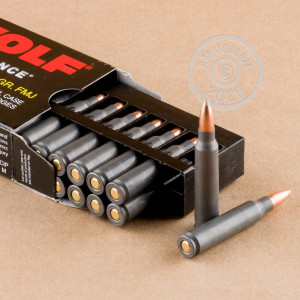 Photo detailing the 223 REM WOLF WPA POLYFORMANCE 55 GRAIN FMJ (1000 ROUNDS) for sale at AmmoMan.com.