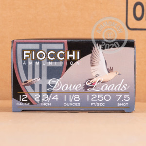Great ammo for shooting clays, target shooting, upland bird hunting, these Fiocchi rounds are for sale now at AmmoMan.com.