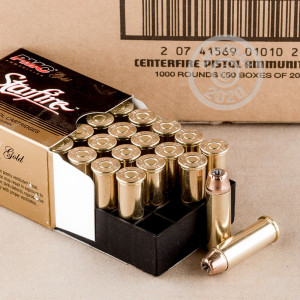Photo of 44 Remington Magnum JHP ammo by PMC for sale at AmmoMan.com.