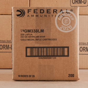 Image of 338 LAPUA FEDERAL GOLD MATCH 250 GRAIN HPBT (20 ROUNDS)
