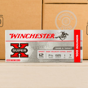 Photograph of Winchester 12 Gauge #7 shot for sale at AmmoMan.com