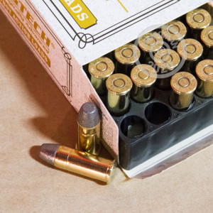 Image of 44 Special ammo by Magtech that's ideal for hunting wild pigs, precision shooting, shooting indoors, training at the range.