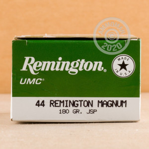 Image of Remington 44 Remington Magnum pistol ammunition.