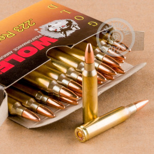 Image of 223 REMINGTON WOLF GOLD 55 GRAIN FMJ BRASS CASED (1000 ROUNDS)