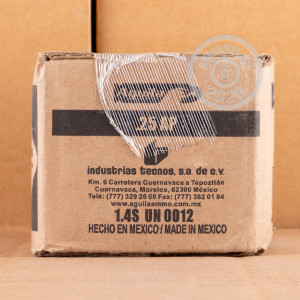 A photo of a box of Aguila ammo in .25 ACP.
