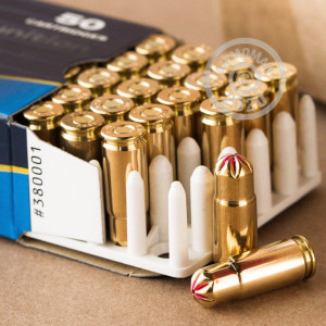 A photograph detailing the 9mm Luger ammo with blanks bullets made by Prvi Partizan.