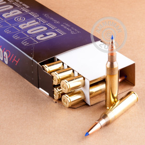 A photograph of 20 rounds of 265 grain 338 Lapua Magnum ammo with a DPX bullet for sale.