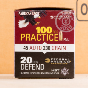 Image detailing the brass case and boxer primers on 120 rounds of Federal ammunition.