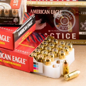 A photograph of 120 rounds of 230 grain .45 Automatic ammo with a FMJ bullet for sale.