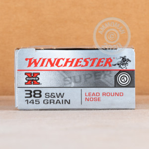 Image of .38 S/W ammo by Winchester that's ideal for training at the range.