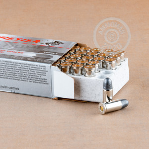 Image of Winchester .38 S/W pistol ammunition.