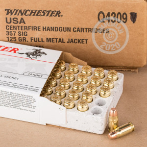 Photo of 357 SIG FMJ ammo by Winchester for sale at AmmoMan.com.