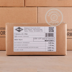 Image of Magtech 308 / 7.62x51 bulk rifle ammunition.