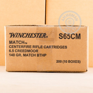 Image of 6.5 Creedmoor - 140 Grain BTHP Match - Winchester - 20 Rounds