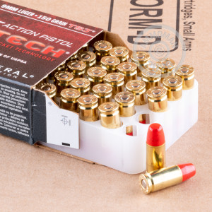 A photograph detailing the 9mm Luger ammo with Polymer Coated FMJ bullets made by Federal.