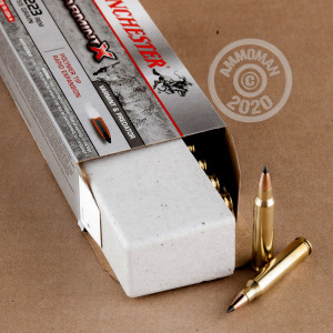 Image of the .223 REMINGTON WINCHESTER VARMINT X 55 GRAIN JHP (20 ROUNDS) available at AmmoMan.com.
