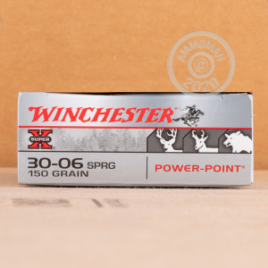 Image of Winchester 30.06 Springfield rifle ammunition.