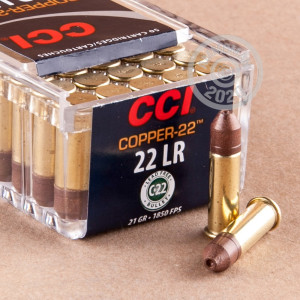rounds of .22 Long Rifle ammo with HP bullets made by CCI.