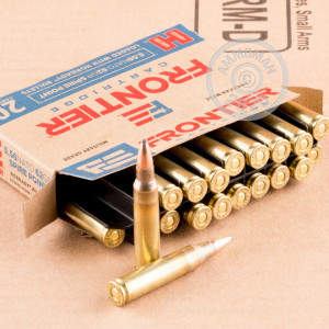 Photo detailing the 5.56X45 HORNADY FRONTIER 62 GRAIN SP (500 ROUNDS) for sale at AmmoMan.com.