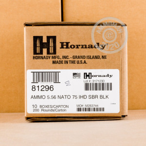 Image of 5.56X45 HORNADY BLACK 75 GRAIN INTERLOCK HD SBR (20 ROUNDS)