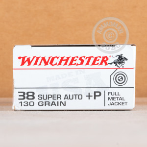 Photo of 38 Super FMJ ammo by Winchester for sale at AmmoMan.com.