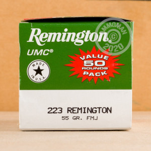 Photograph showing detail of .223 REMINGTON UMC 55 GRAIN MC (400 ROUNDS)