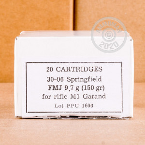 An image of 30.06 Springfield ammo made by Prvi Partizan at AmmoMan.com.