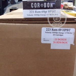 Image of 223 Remington ammo by Corbon that's ideal for precision shooting.
