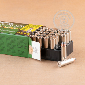 A photo of a box of Remington ammo in 357 Magnum.