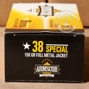 Photo of 38 Special FMJ ammo by Armscor for sale at AmmoMan.com.