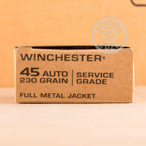 Photo of .45 Automatic FMJ ammo by Winchester for sale at AmmoMan.com.