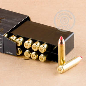 Photo detailing the 450 BUSHMASTER HORNADY BLACK 250 GRAIN FTX (200 ROUNDS) for sale at AmmoMan.com.