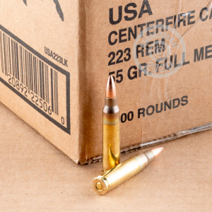 Photo detailing the 223 REMINGTON WINCHESTER 55 GRAIN FMJ (1000 ROUNDS) for sale at AmmoMan.com.