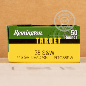 Image of .38 S/W pistol ammunition at AmmoMan.com.