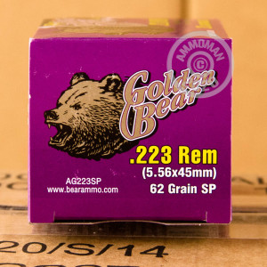 Image of Golden Bear 223 Remington rifle ammunition.