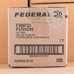 A photo of a box of Federal ammo in 308 / 7.62x51.