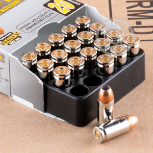 An image of 9mm Luger ammo made by Corbon at AmmoMan.com.