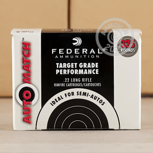 Image of bulk .22 Long Rifle ammo by Federal that's ideal for training at the range.