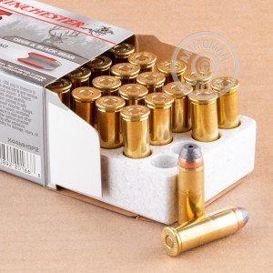 An image of 44 Remington Magnum ammo made by Winchester at AmmoMan.com.