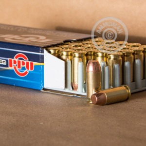 A photograph of 500 rounds of 180 grain .40 Smith & Wesson ammo with a TMJ bullet for sale.