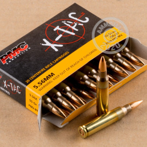 Image of the 5.56 NATO PMC M193 55 GRAIN FMJ (20 ROUNDS) available at AmmoMan.com.