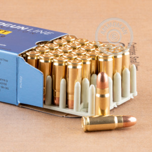 Image detailing the brass case and boxer primers on the Prvi Partizan ammunition.