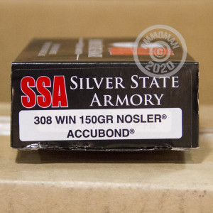 Photo of 308 / 7.62x51 Nosler AccuBond ammo by Silver State Armory for sale.
