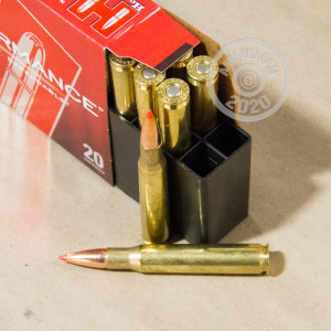 A photograph of 20 rounds of 150 grain 30.06 Springfield ammo with a GMX bullet for sale.